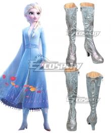 Disney Frozen 2 Elsa White Shoes Cosplay Boots