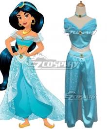 Disney Princess Princesa Jasmine Blue Cosplay Costume