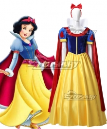 Disney Snow White Yellow Dress Cosplay Costume