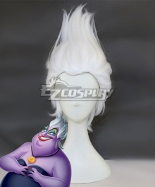 Disney The Little Mermaid Ursula White Cosplay Wig