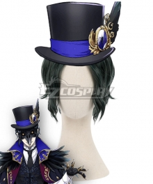Disney Twisted Wonderland Dire Crowley Black Cosplay Wig