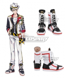 Disney Twisted Wonderland HEARTSLABYUL Trey Clover White Shoes Cosplay Boots