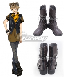Disney Twisted Wonderland Savanaclaw Ruggie Bucchi Black Shoes Cosplay Boots