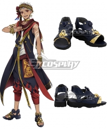 Disney Twisted Wonderland Scarabia Kalim Al-Asim Black Cosplay Shoes