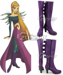 Disney W.I.T.C.H. Witch Cornelia Hale Purple Shoes Cosplay Boots