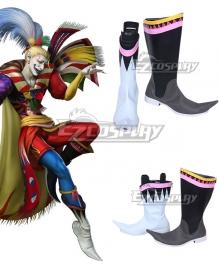 Dissidia Final Fantasy NT FF6 Kefka Black Shoes Cosplay Boots