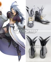 Dissidia Final Fantasy NT Final Fantasy IX FF9 Kuja Silver Cosplay Shoes