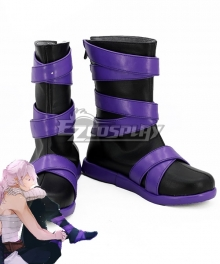 Donten Ni Warau Shirasu Kinjou Black Purple Shoes Cosplay Boots