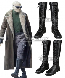 Doom Patrol Season 1 Negative Man  Larry Trainor Black Cosplay Shoes