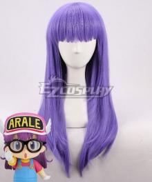 Dr. Slump Arale Purple Cosplay Wig
