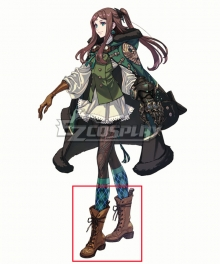 Drag On Dragoon 3 DOD3 Four Brown Shoes Cosplay Boots