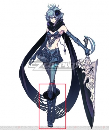 Drag On Dragoon 3 DOD3 Two Blue Shoes Cosplay Boots