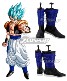 Dragon Ball Gogeta Black Blue Shoes Cosplay Boots