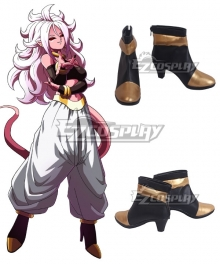 Dragon Ball Majin Android 21 Black Golden Cosplay Shoes