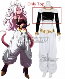 Dragon Ball Majin Android 21 Cosplay Costume - Only Top