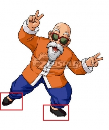 Dragon Ball Master Roshi Black Cosplay Shoes