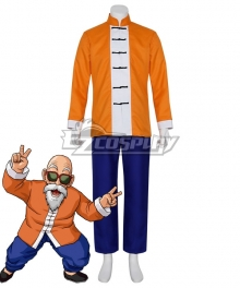 Dragon Ball Master Roshi Orange Cosplay Costume