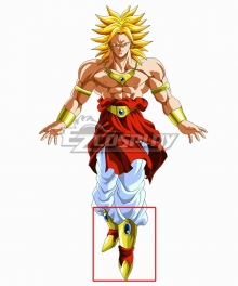 Dragon Ball Super Broly Golden Shoes Cosplay Boots