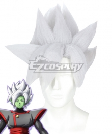 Dragon Ball Super Fusion Zamasu White Cosplay Wig