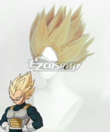 Dragon Ball Super Vegeta SSJ Golden Cosplay Wig