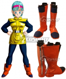 Dragonball Z Bulma Planet Namek Orange Shoes Cosplay Boots