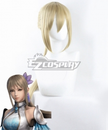 Dynasty Warriors 9 Wang Yuanji Golden Cosplay Wig