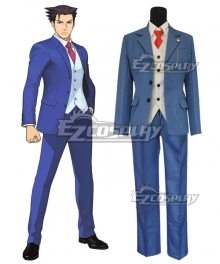 Ace Attorney Gyakuten Saiban Phoenix Wright Cosplay Costume