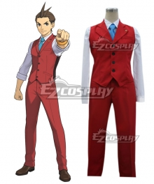 Ace Attorney Gyakuten Saiban Apollo Justice Cosplay Costume