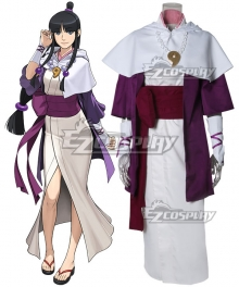Ace Attorney Gyakuten Saiban Maya Fey White Cosplay Costume