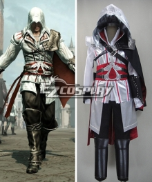 Assassin's Creed II Brotherhood Ezio Halloween Cosplay Costume