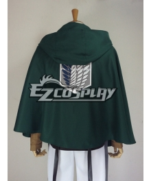 Attack on Titan Shingeki no Kyojin Advancing Giants Green Cape Cloak Cosplay Costume