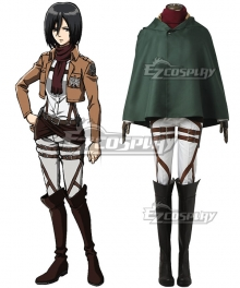 Attack on Titan Shingeki no Kyojin Mikasa Akkaman Mikasa Ackerman 104th Cadet Corps Cosplay Costume - No Boots