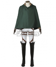 Attack on Titan Shingeki no Kyojin Stationed Corps Cosplay Costume - No Boots