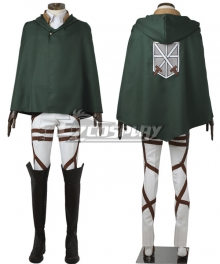 Attack on Titan Shingeki no Kyojin Training Corps Cosplay Costume - No Boot