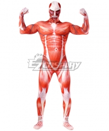 Attack on Titan Shingeki no Kyojin Colossal Titan Bertolt Huber Bertolt Hoover Cosplay Costume