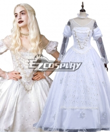 Alice in Wonderland White Queen Dress Cosplay Costume