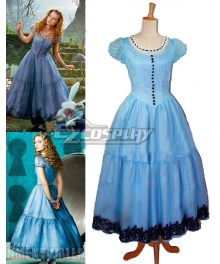 Alice in Wonderland Alice Princess Evening Party Dress Cosplay Costume
