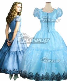 Alice in Wonderland Alice's Adventures in Wonderland Alice Kingsleigh Dress Cosplay Costume