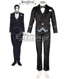 Black Butler II Kuroshitsuji II Claude Faustus Butler Uniform Suit Cosplay Costume - only coat, vest, tie