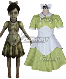 BioShock Little Sister Green Cosplay Costume