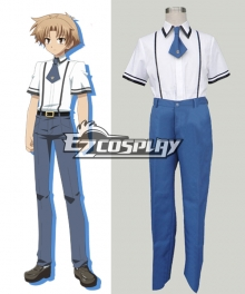 Baka to Test to Boys' Summer School Uniform Cosplay Costume