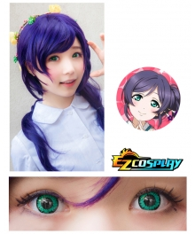 Bella Eye Coscon LoveLive! Love Live School Idol Project Nozomi Tojo Green Cosplay Contact Lense