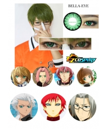 Bella Eye Generation of Miracles Kuroko's Basketball Midorima Shintaro Green Cosplay Contact Lense