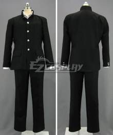 Japanese Boy Formal School Uniform Black Cosplay Costume