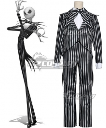 Nightmare Before Christmas cosplay Jack Skellington Stripe Uniform Costume Halloween Costume