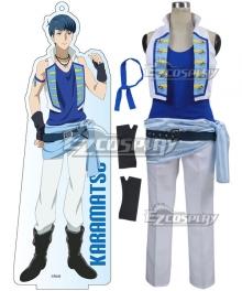 Mr. Osomatsu San Karamatsu Matsuno Blue Cosplay Costume