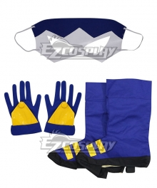 DC Comics Static Shock Virgil Ovid Hawkins Cosplay Costume - Only Mask, Gloves, Boot covers