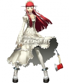 Persona 3 Chidori Yoshino White Dress Cosplay Costume