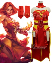 Dota 2 Lina Cosplay Costume