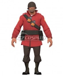 Team Fortress 2 Red Soldier Cosplay Costume - Only Jacket, Bandolier, Belt, Bags